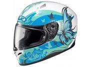 HJC FG-17 Flutura Helmet Blue/Green/White MD