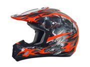 AFX FX-17 Inferno MX Offroad Helmet Orange Multi MD 9SIA1452T02748