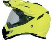 AFX FX-41DS Full Face Street Helmet Hi-Vis Yellow XL