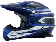 AFX FX-21 MX Offroad Helmet Blue/Silver MD 9SIA1452T14795