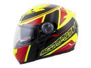 Scorpion EXO-500 Corsica Helmet Red/Neon XS 9SIA1452T28926