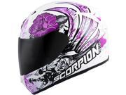 Scorpion EXO-R410 Novel Womens Full Face Helmet  Purple/White MD 9SIA1452T10678