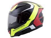 Scorpion EXO-R2000 Dispatch Helmet Neon/Yellow/Red 2XL 9SIA1452T03956
