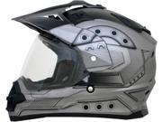 AFX FX-39DS Dual Sport Hero Full Face Helmet Silver MD 9SIA1453EY6183