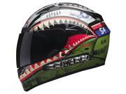 Bell Qualifier DLX Devil May Care Full Face Helmet  Green/Silver XS 9SIA1452T04268