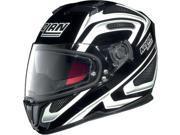 Nolan N86 N-Com Overtake Street Helmet Black/White SM 9SIA1452W85258