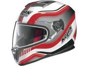 Nolan N86 N-Com Deep Street Helmet Metallic White/Red 2XL 9SIA1452T07399