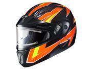 HJC CL MAX 2 Ridge Modular Snow Helmet w Electric Shield Fluo Orange Black LG
