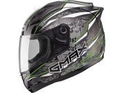 Gmax GM69 Mayhem Full Face Helmet Black/Silver/Hi-Vis Green MD 9SIA1453RD4217