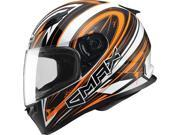 Gmax FF49 Warp Full Face Street Helmet White/Orange SM 9SIA1453RD4739