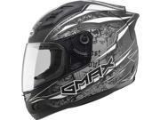 Gmax GM69 Mayhem Full Face Helmet Black/Silver/White LG 9SIA1453RD5090