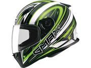 Gmax FF49 Warp Full Face Street Helmet White/Green SM 9SIA14552C6459