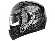 Icon Alliance GT Honcho Full Face Helmet Black/Gold/Silver MD 9SIA1453WG8231