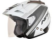 AFX FX-50 Signal Open Face Helmet Silver SM 9SIA1454WR5455