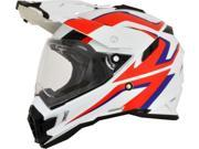 AFX FX-41AT Dual Sport Full Face Helmet White/Red/Blue SM 9SIA1454WU0771
