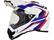 AFX FX-41AT Dual Sport Full Face Helmet White/Blue/Red SM 9SIA1454WU1241
