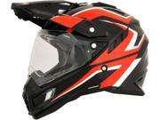 AFX FX-41AT Dual Sport Full Face Helmet Black/Red/White LG 9SIA1454WU0826