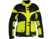FirstGear TPG Monarch 2014 Womens Textile Jacket Day Glo Yellow/Black SM 9SIA1453W38416
