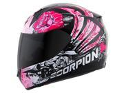 Scorpion EXO-R410 Novel Womens Full Face Helmet  Pink/Black XS 9SIA1452T23264