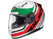 HJC CL-17 Victory Motorcycle Helmet Red/White/Green LG 9SIA1452T02831