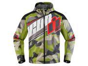 Icon Merc Deployed Mens Textile Jacket Green/Camo/White XL 9SIA1455HJ5061