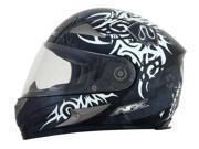 AFX FX-90 Danger Full Face Helmet Silver Multi SM 9SIA1452T12681