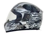 AFX FX-90 Reaper Full Face Helmet Silver SM 9SIA1452T19211