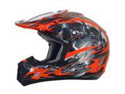 AFX FX-17 Inferno MX Offroad Helmet Orange Multi XL 9SIA1452T12496