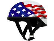 AFX FX-200 Slick Beanie Helmet Half Graphic Freedom White SM 9SIA1452T02434