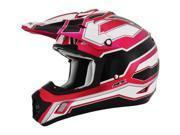 AFX FX-17 Works MX Offroad Helmet Fuchsia/Pink/White/Black SM 9SIA1453N25743