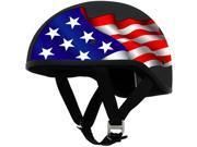AFX FX-200 Slick Beanie Helmet Half Graphic Freedom Black MD 9SIA1452T06401