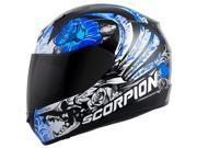 Scorpion EXO-R410 Novel Womens Full Face Helmet  Blue/Black XL 9SIA1452T07765