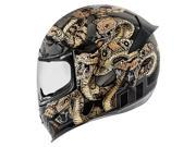 Icon Airframe Pro Cottonmouth Full Face Helmet Gold/Black SM 9SIA14551T0405