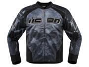 Icon Overlord Reaver Mens Textile Jacket Black LG 9SIA1453FB3266