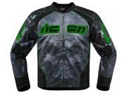 Icon Overlord Reaver Mens Textile Jacket Green/Black SM 9SIA1453G42773