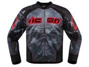 Icon Overlord Reaver Mens Textile Jacket Red/Black 2XL 9SIA1453G42791