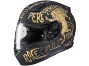 HJC CL-17 Rebel Full Face Helmet Matte Black/Gold LG 9SIA1454XB8158