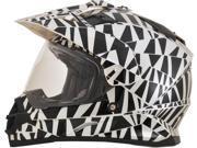 AFX FX-39 Dazzle Full Face Helmet Black/Silver LG 9SIA1453F01529