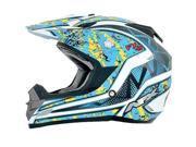 AFX FX-19 Vibe MX Helmet Blue/Yellow 2XL 9SIA1452T07588