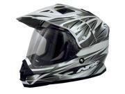 AFX FX-39DS Dual Sport Strike Full-face Street Helmet Silver 2XL 9SIA1450U14491