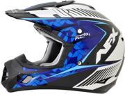 AFX FX-17Y Youth Comp MX Offroad Helmet Pearl White/Blue MD 9SIA1453K15703