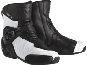 Alpinestars SMX-3 Mens Vented Motorcycle Boots  Black/White 39 Euro 9SIA1452T11809