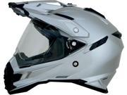 AFX FX-41DS Solid Full Face Helmet Silver LG 9SIA1452T16113