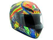 AGV K3 Five Continents Helmet Blue/Yellow MD 9SIA1452T06308