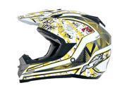 AFX FX-19 Vibe MX Offroad Helmet Yellow MD 9SIA1450U14673