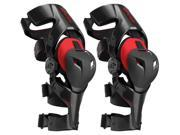 EVS Web Pro Knee Braces Pair Black/Red LG 9SIA1454YW5551