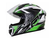 Zox Thunder R2 Force Motorcycle Helmet Green/Black/White MD 9SIA14551U1082