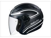 Kabuto Avand II Staid Street Helmet Flat Black/White SM 9SIA1452YA8751