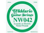 D Addario Single Nickel Wound String .042