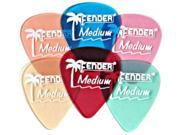 Fender 12 Pack Picks - Candy Apple Red - Thin